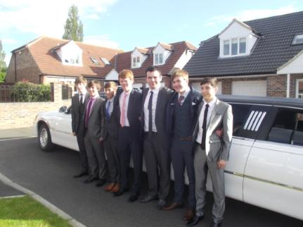 School prom limo hire by Bliss Limousine Hire Middlesbrough Cleveland