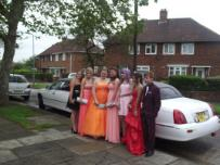school prom photo's by Bliss Limousine Hire. Limo hire Middlesbrough.