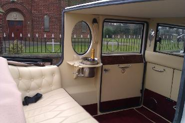 White vintage wedding car hire covering Middlesbrough, Redcar, Marske, Stockton, Darlington, Hartlepool, Durham, Whitby, and the north east.